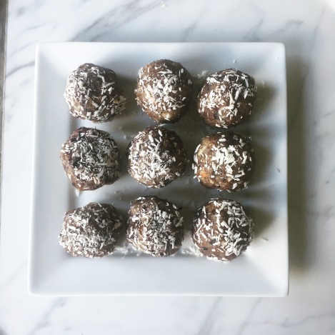 Blueberry coconut and Lemon energy balls